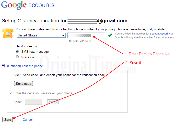 Be Tension Free with Google Backup Passwords - Using 2-Step Verification